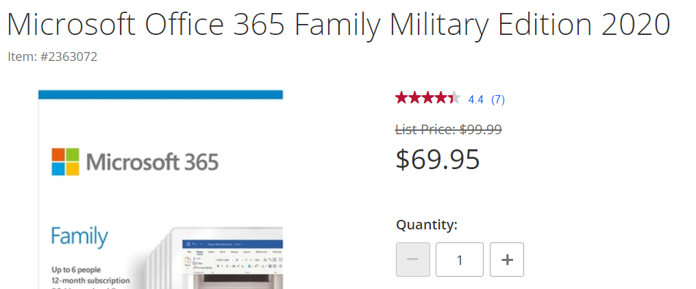 Two military discounts for Microsoft 365 - Two military discounts for Microsoft 365