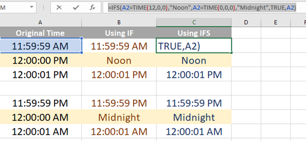 12 PM or noon in Excel 1 4 - Showing 12 PM as 'noon' in Excel