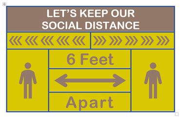 Social Distancing signs in Microsoft Word - Social Distancing signs in Microsoft Word