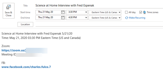 add outlook appointment in another time zone 2 - Add Outlook appointment in another time zone