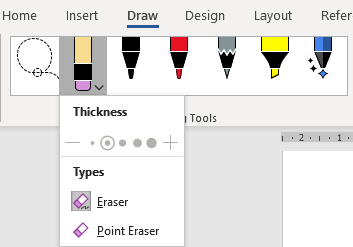 image 23 - Combined Drawing Tools in Word 365 and other Office programs