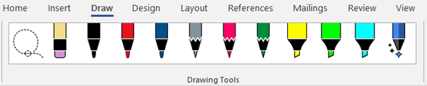 image 26 - Combined Drawing Tools in Word 365 and other Office programs