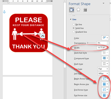 image 51 - Social Distancing signs in Microsoft Word