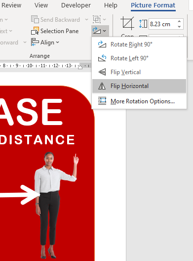 image 53 - Social Distancing signs in Microsoft Word