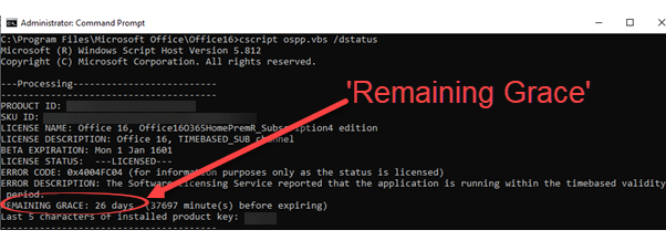 Check your Microsoft 365 licence 'grace period' 1 - Check your Microsoft 365 licence 'grace period'