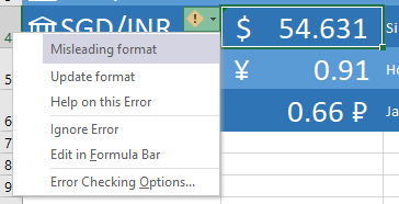 Exchange Rate support in Excel 365 3 - Exchange Rate support in Excel 365