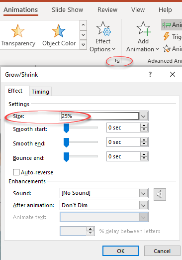 PowerPoint's 'Zoom out' animation option 5 - PowerPoint's 'Zoom out' animation option