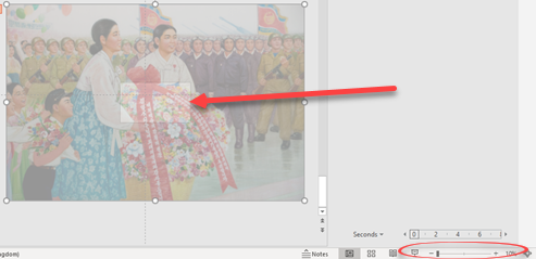 PowerPoint's 'Zoom out' animation option - PowerPoint's 'Zoom out' animation option