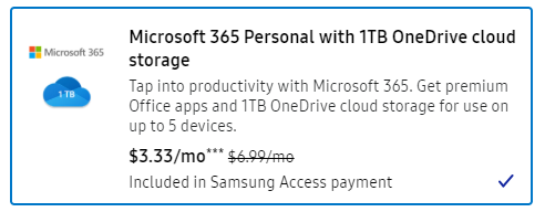 Samsung phone subscription includes Microsoft 365 1 - Samsung phone subscription includes Microsoft 365
