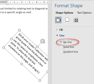 image 53 - Make Diagonal Text in Word