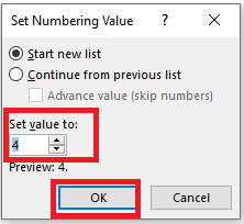 image 85 - Start a Numbered List from any value, not just 1
