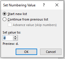 image 86 - Start a Numbered List from any value, not just 1