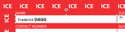 image 89 - ICE – In Case of Emergency card in Word