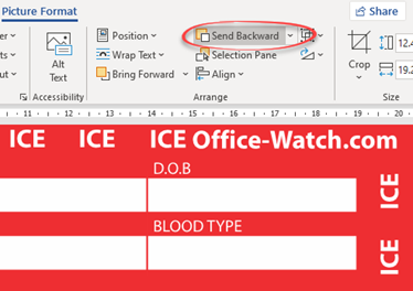 image 91 - ICE – In Case of Emergency card in Word