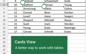 Excel Table Cards for smartphones 1 300x188 - Office Watch Microsoft Outlook Word Excel Powerpoint Access Teams Onenote