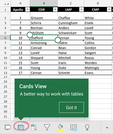 Excel Table Cards for smartphones 1 - Excel Table Cards for smartphones