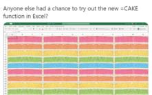 Excel gets Cake