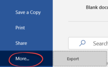 File menu change for the better in Office 365
