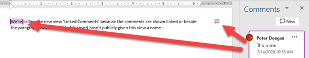 More Commenting changes in Word and Office 1 - Comment View change in Word and Office