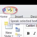 Powerpoint speaks aloud in Office 365, 2019 2016 and earlier