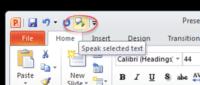 Powerpoint speaks aloud in Office 365 2019 2016 and earlier 200x85 - Office Watch Microsoft Outlook Word Excel Powerpoint Access Teams Onenote