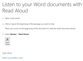 Read Aloud in Word 365 and 2019 in depth 1 - Read Aloud in Word 365 and 2019 in depth