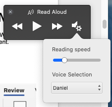 image 59 - Read Aloud in Word for Mac