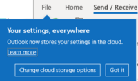 Outlook stores settings in the cloud – but which ones 200x118 - Office Watch Microsoft Outlook Word Excel Powerpoint Access Teams Onenote