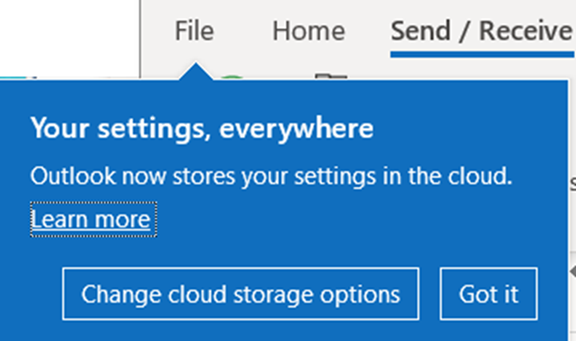 Outlook stores settings in the cloud – but which ones - Outlook stores settings in the cloud – but which ones?