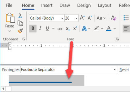 image 101 420x296 - Delete or change the separator line for Footnotes and Endnotes