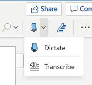 image 136 - Convert your recording into text  with Word's new Transcribe