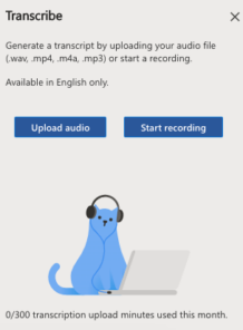 image 138 218x296 - Convert your recording into text  with Word's new Transcribe