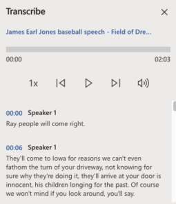 image 143 255x296 - Convert your recording into text  with Word's new Transcribe