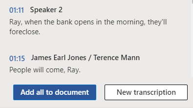 image 153 - Convert your recording into text  with Word's new Transcribe