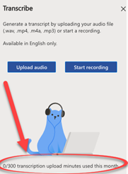 image 157 - Convert your recording into text  with Word's new Transcribe