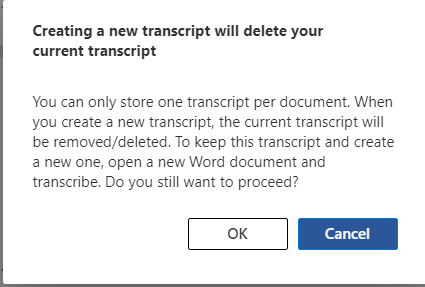 image 160 - Convert your recording into text  with Word's new Transcribe