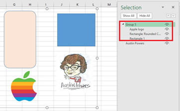 image 48 - See more with Selection Pane in Excel, PowerPoint and Word
