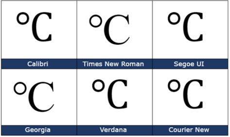 image 51 473x282 - Degree Celsius ℃ symbol in Word, Excel, PowerPoint and Outlook