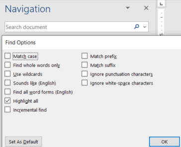image 73 364x296 - Find pane search secrets in Word