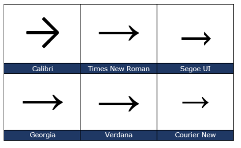 image 76 473x291 - Right arrow → symbol in Word, Excel, PowerPoint and Outlook