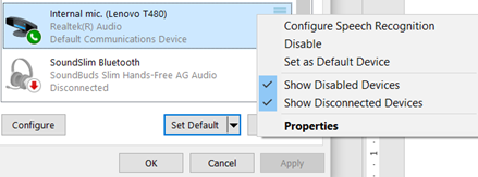 image 105 - Microphone setup and settings for Dictate and Windows 10