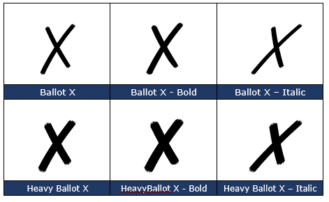 image 117 - X cross symbol ✗ in Word, Excel, PowerPoint and Outlook