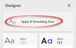 image 69 - Inside the new Designer for Microsoft Word