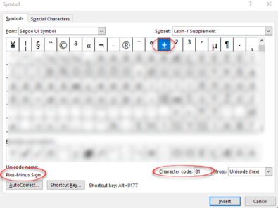 image 90 395x296 - Plus or Minus sign ± in Word, Excel, PowerPoint and Outlook