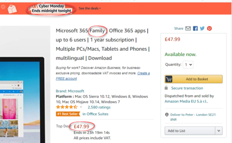 image 473x293 - Save over £30 on UK deal for Microsoft 365 - but hurry!