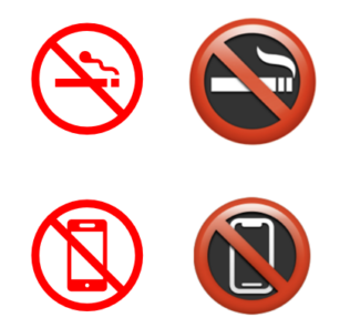 image 316x296 - 8 simple 'Prohibited' symbols for smoking, phones, kids and more in Word