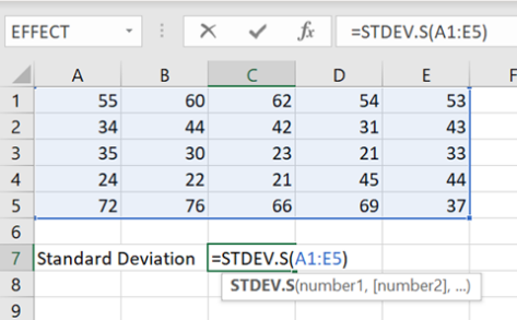 image 83 473x293 - Standard Deviation is easy to use and understand in Excel