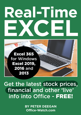 2330 Real time Excel small - Put the latest Stock and Fund prices in Excel workbooks
