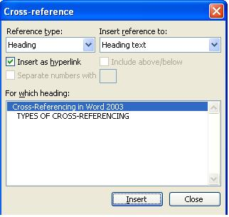797 Cross Referencing in Word - Cross Referencing in Word