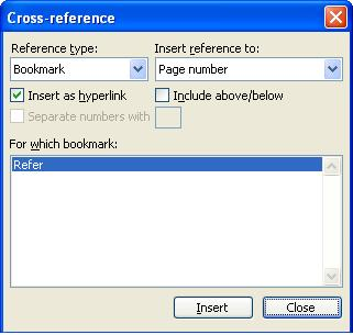 797 Cross Referencing in Word 3 - Cross Referencing in Word